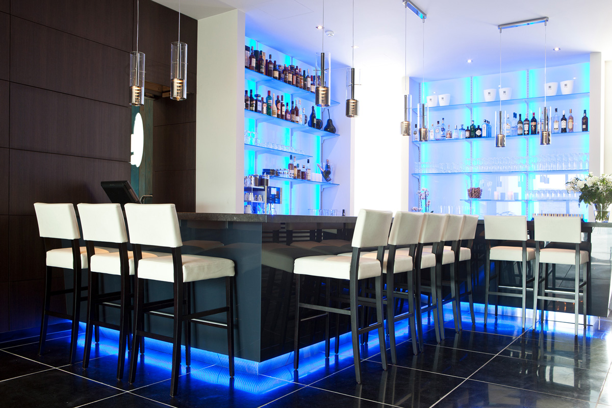Lounge Bar van het Blue Woods Hotel